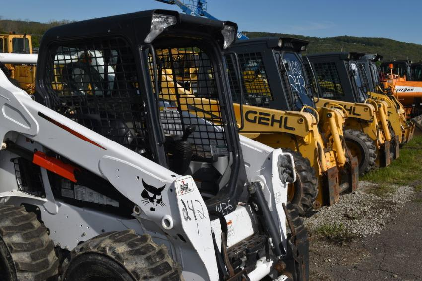 One of the highlights of this year's auction was a very nice lineup of work-ready skid steers.