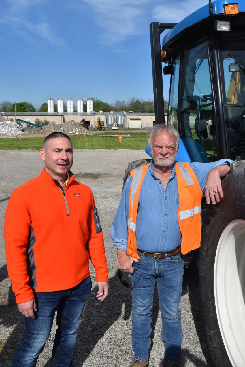 Tom Howe (L) and Al Stage, both of State Line Auto Auction, are ready to work with customers to put together consignments for their next sale this fall.