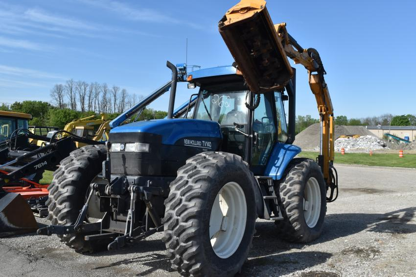 This New Holland TW40 with a boom mower came in fresh from a local municipality.