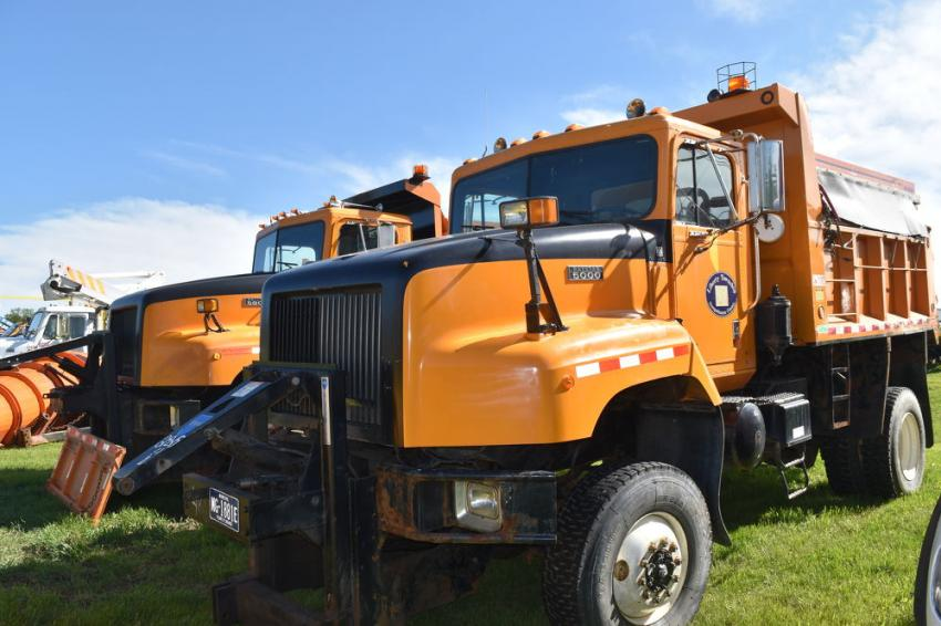 The sale included a couple of vocational trucks, including dump bodies and plows from the town of Susquehanna.