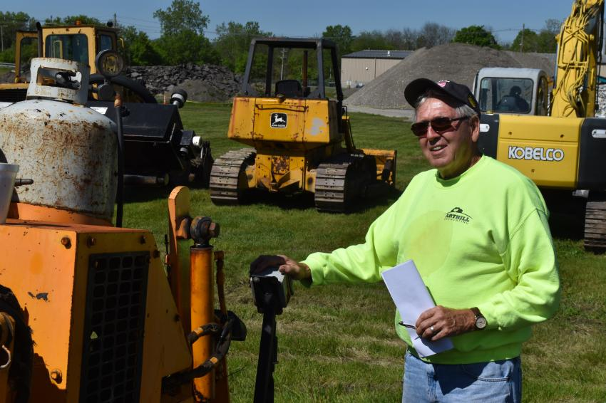 Art Hill of Art Hill Excavating in Medina, N.Y., loves a good auction. He is still involved in the excavation business, but occasionally enjoys buying and selling a few pieces of used iron.