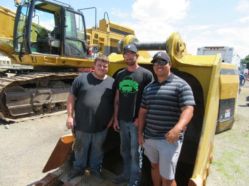 (L-R): Darrick Farmer, Joseph Hudson and Bobby Davern of Shamrock Asphalt landed several winning bids at the auction.