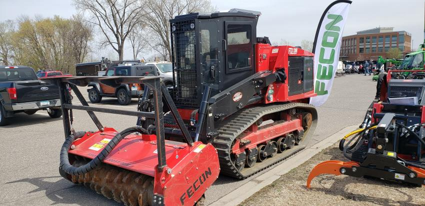 The Fecon FTX128R on display at Tri-State Bobcat.