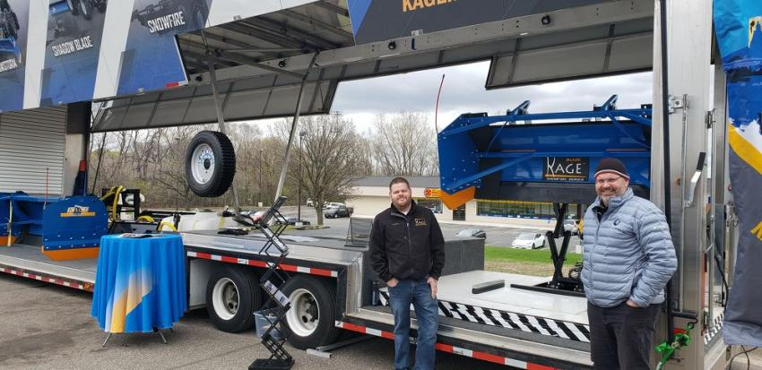 This Kage Super display trailer has been used at open houses and trade shows across the country.