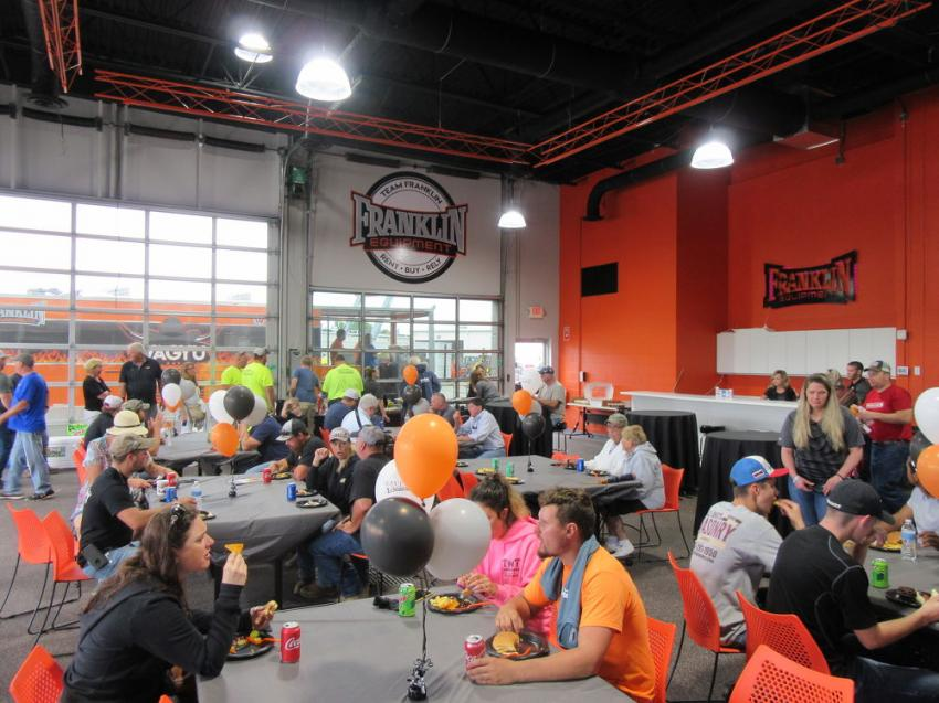 Attendees of Franklin Equipment's skid steer rodeo enjoyed lunch and refreshments provided during the event.