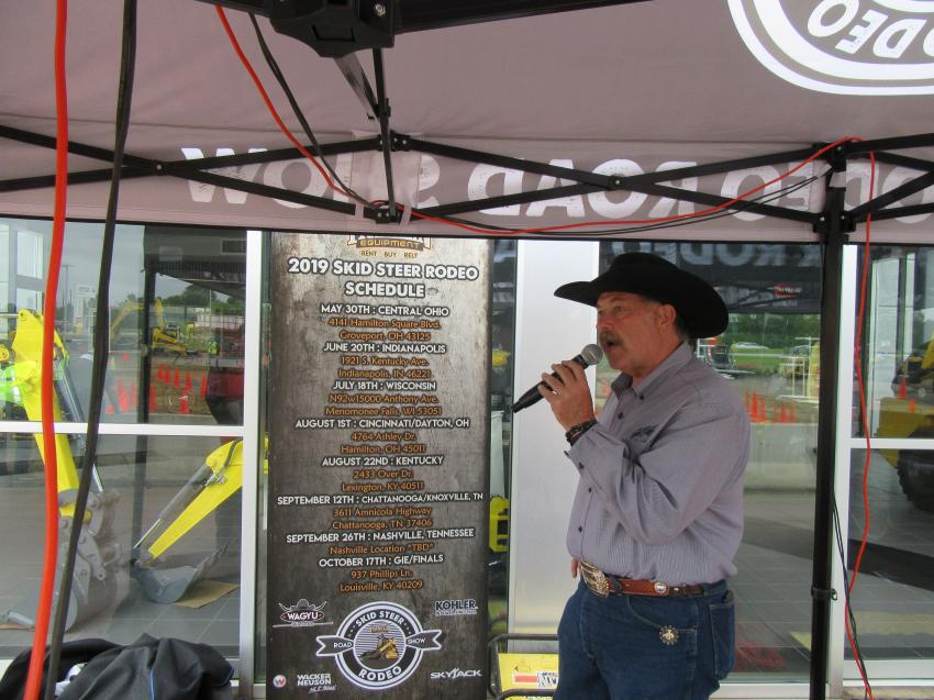 Professional rodeo announcer Joe Coalter provided play-by-play commentary throughout the competition.