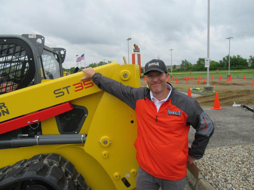 Franklin Equipment Company's John Catrino came in from the dealership's Nashville, Tenn., store for the event.