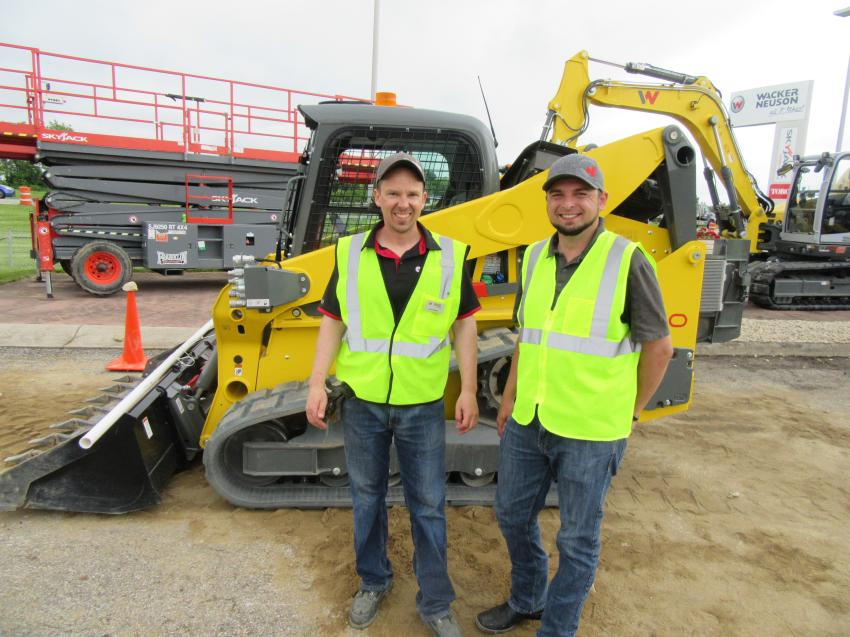 Wacker Neuson's Don Knutson (L) and Tim Triscari were at the event to introduce the new ST50 CTL, which is the company's only production built pre-series machine. The machine is scheduled to be available in the fourth quarter in 2019.
