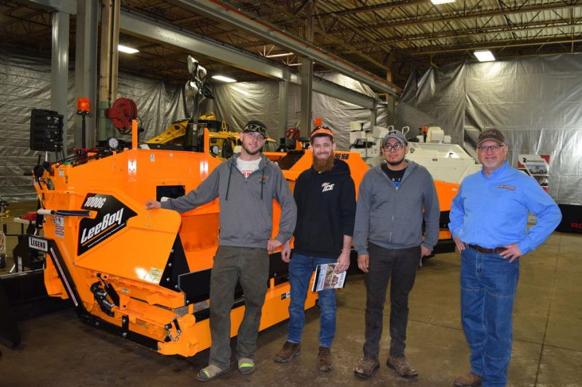 (L-R): Alex Pelant, Guillermo Herrer and Gennadiy Fainerman of Asphalt Aces with Territory Manager Tim Rients.