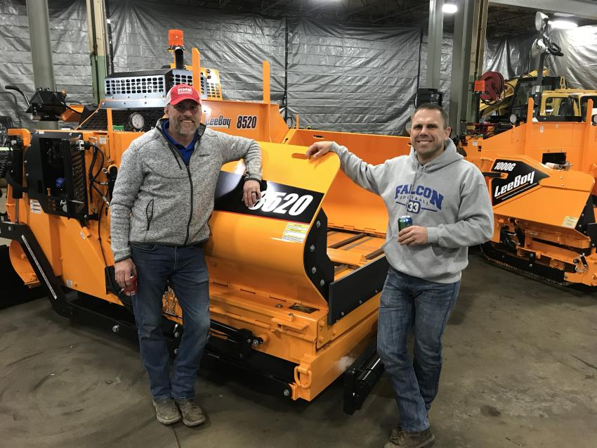 (L-R): Bill Bottema, RMS Rentals territory manager, poses with Mark Hanson of Minnesota Blacktopping