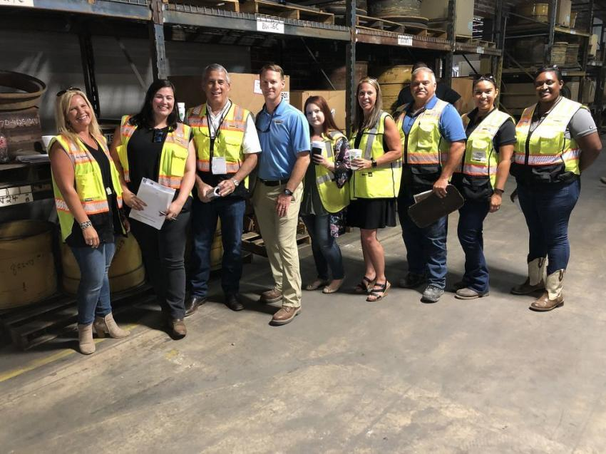On hand to help their customers are members of the Blanchard Machinery Team. (L-R) are Amy Spisak, Ginn Lowe, Harry Hurley, Brad Fultz, Daniella Schultz, Darla Oldham, Gene Moore, Judy Shriner and Erika Bordwell.