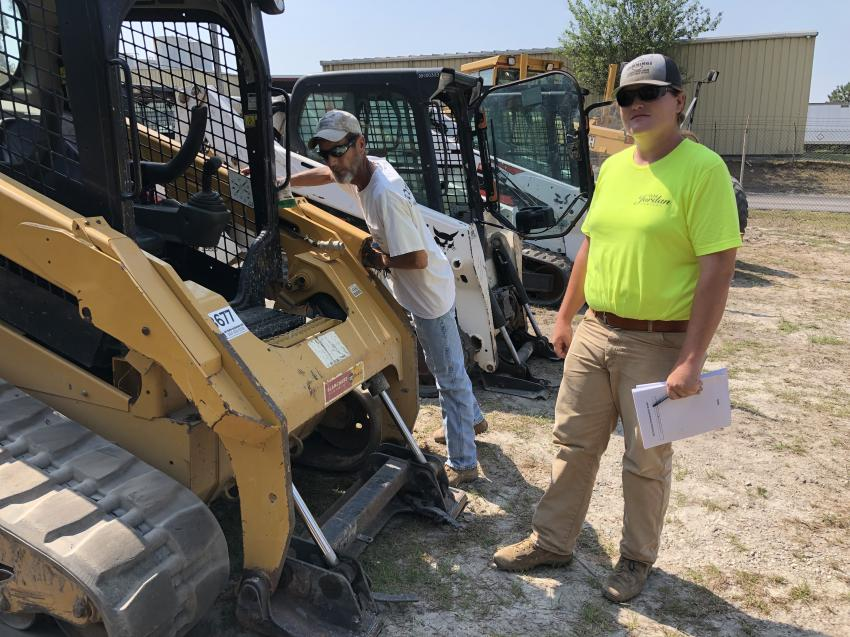 Jack and Jesse Anderson of Anderson & Associates Land Surveyors in Columbia, S.C., were interested in the compact track loaders.