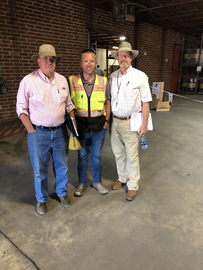 (L-R): Larry Owens of C.R. Jackson Inc., Matthew Uhl of Blanchard Machinery and Richard Jackson of C.R. Jackson Inc.