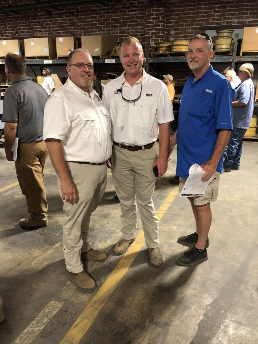 (L-R) are Jeff Martin and Colin Thain, both of Jeff Martin Auctioneers, and Rick Thain of Southern Quality Truck & Equipment in Lexington, S.C.