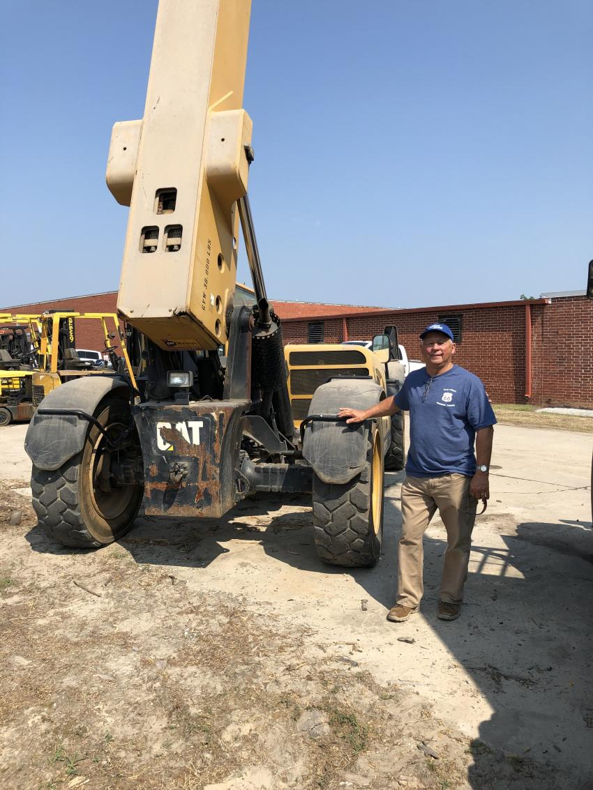 Ted Hoover of Hoover Building Systems in Lexington, S.C., was interested in the Cat telehandlers being offered.