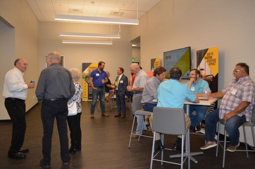 TXAPA members await lunch and the presentation that officially opened the organization's expanded facilities.