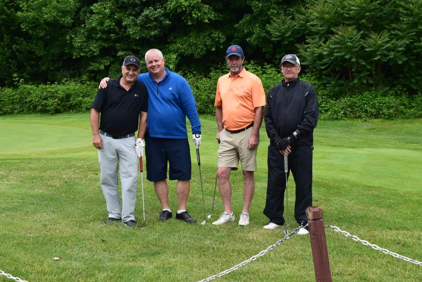 (L-R) are: Mike Toth of American Express – Newburgh, N.Y., Sean Curran of Thompson Insurance – Pine Bush, N.Y., Pat Connell of Newburgh Winwater – Walden, N.Y. and Dick Daver of Jacobs Engineering – Fishkill, N.Y.