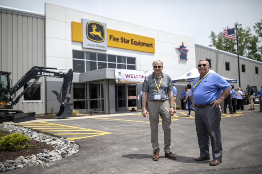 Five Star Equipment Owners Bill Bochicchio Sr. (L) and Frank Gallo were on hand to meet with customers during the grand opening.