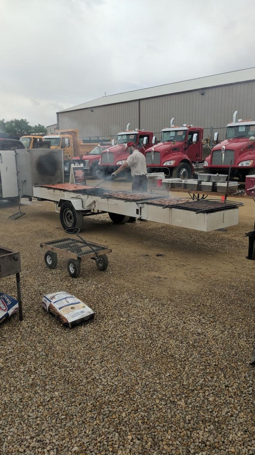 Fay's Pork Chop Bar-B-Que from Waterman, Ill., catered the event.