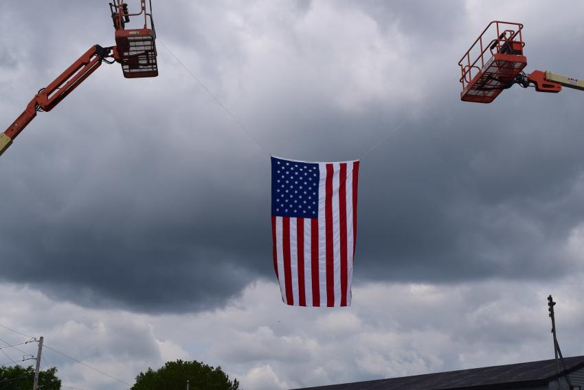 ABLE Equipment held an open house June 6, 2019, in Allentown, Pa., and the company made sure to meet its guests with a patriotic greeting.