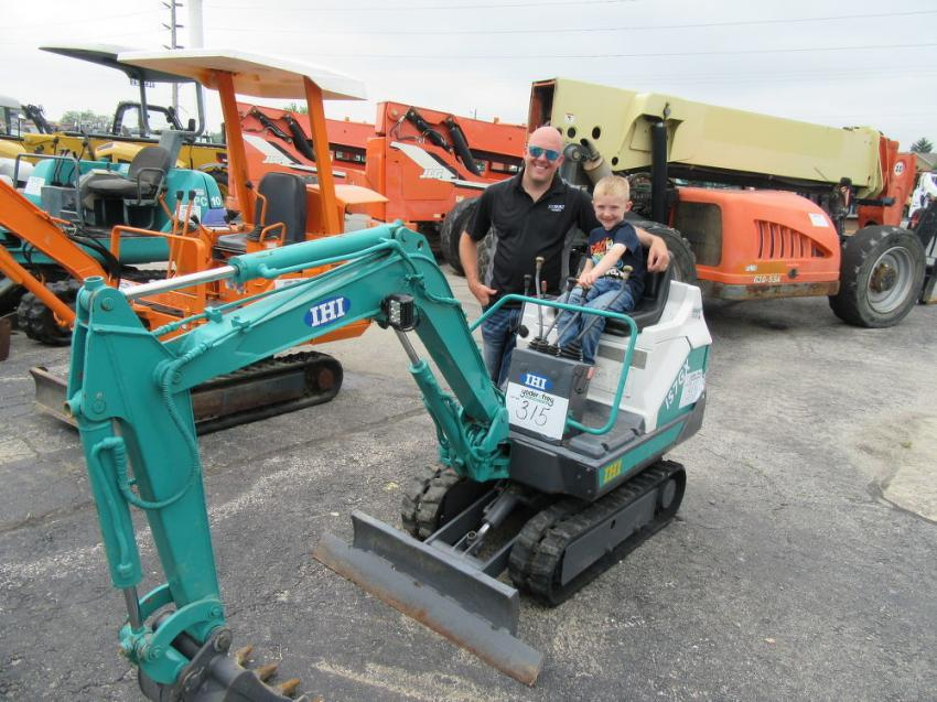 Joe Corron, owner of Joe Built Homes, found this IHI mini-excavator was just the size for his son, Peyton.