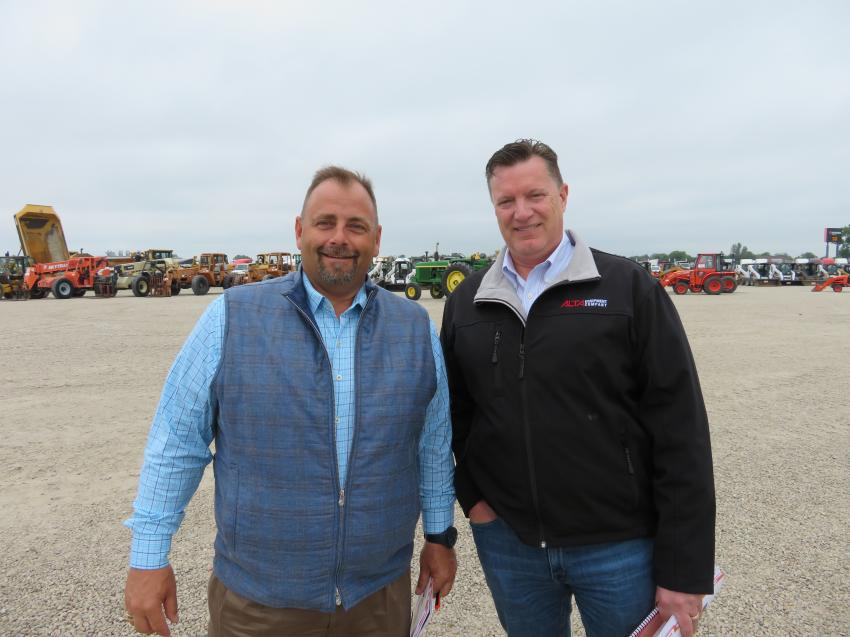 (L — R) Mike Dahlen, VP operations, and John Hofmeyer, director of rental operations construction group, both of Alta Equipment Company