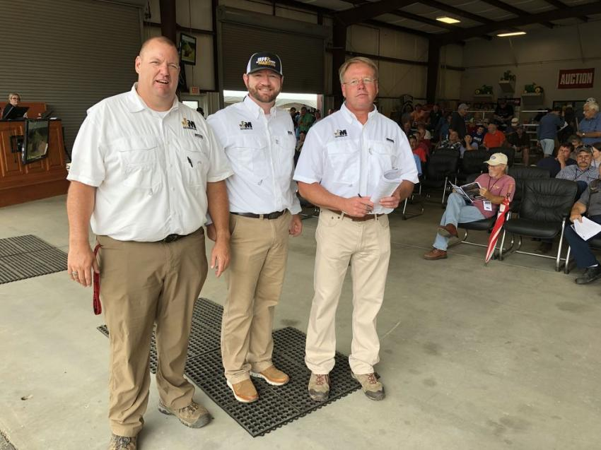 Here are a few members of the Jeff Martin Auctioneers team.  (L-R) are Jason Stribling, Ryan Reed and Richard Smith.