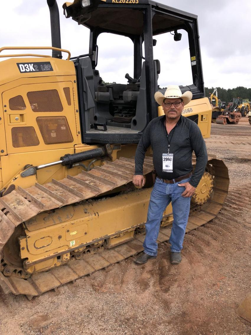 Rafael Maciel of San Jose Farm in Dallas, N.C., looked over several Cat Dozers and decided the D3K LGP machine would suit his needs.