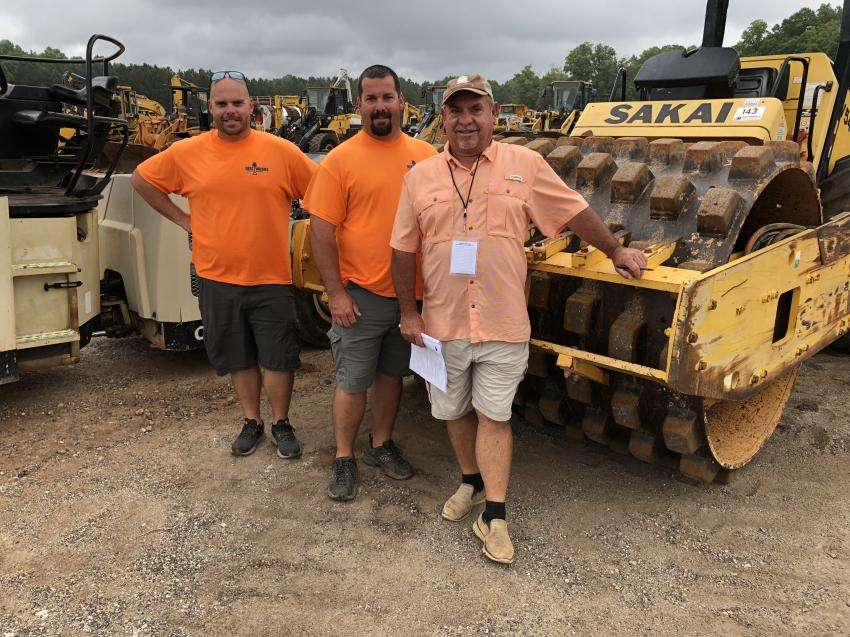 Matt, Jason and Donald Payne of Dirt Works in Seneca, S.C., planned to bid on this Sakai padfoot roller.