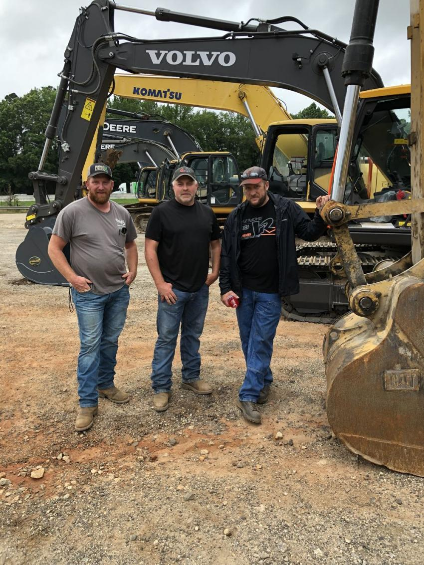 (L-R) are Jason Kirkland, Kirkland Logging in Bryson City, N.C.; Mike Shuler, Shuler Excavating in Bryson City, N.C.; and Lewis Parton, Parton Excavating in Bryson City, N.C.