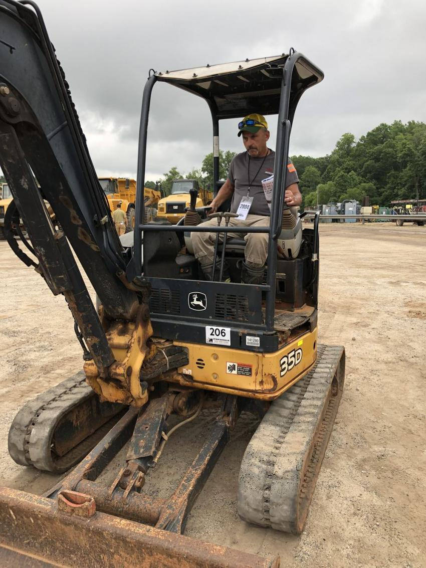 Rodney Mattison of Mattison Grading in Anderson, S.C., came to buy a few mini-excavators and a compact track loader.