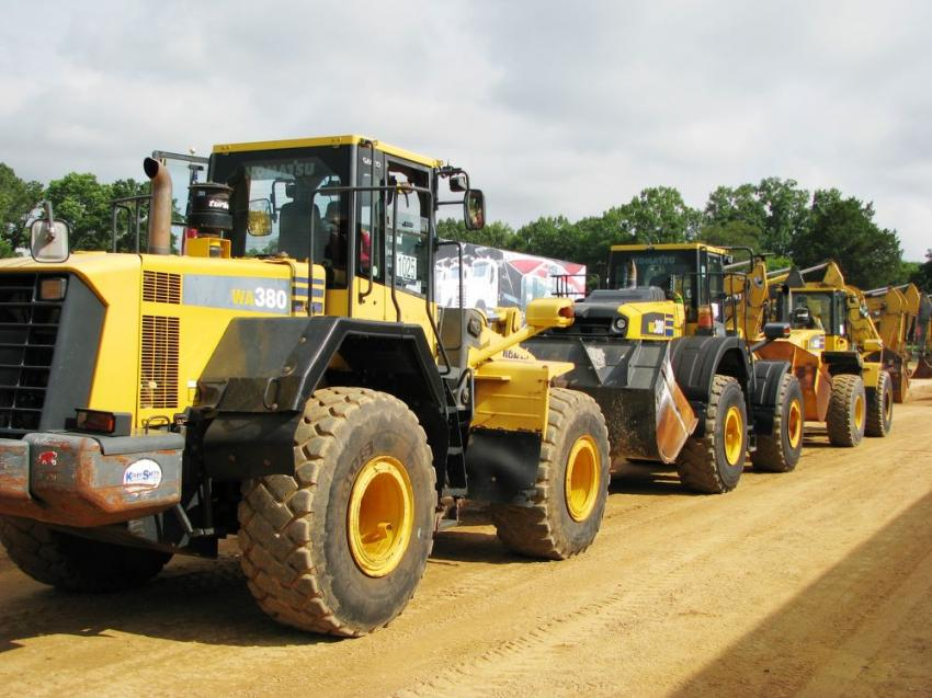 Always a great selection of wheel loaders at any JM Wood auction.