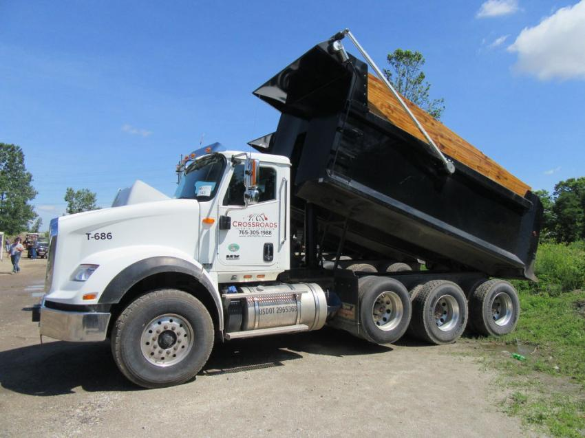 The auction featured a number of clean, well maintained trucks, including this dump truck.