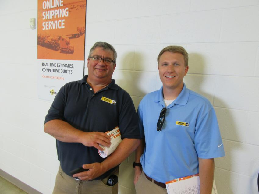 Ron Hess (L) and Dave Redmond of Cleveland Brothers were on hand to take in the auction.