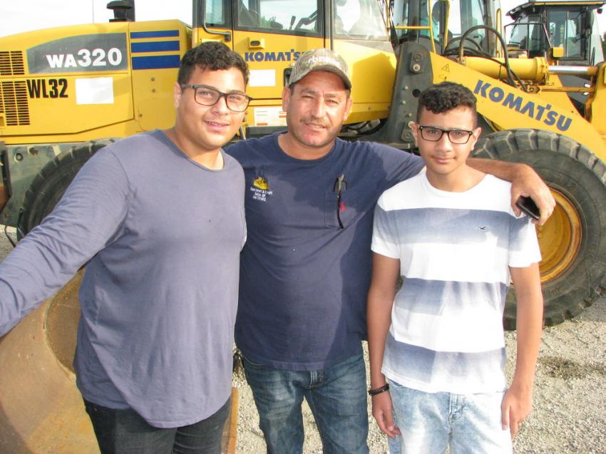 Summertime is a good time for getting the next generation in the industry involved in the buying/selling process (L-R): Adam Hamada, Ibrahim Sales and Yassin Hamada of Adam Import-Exports, Dallas, Ga.