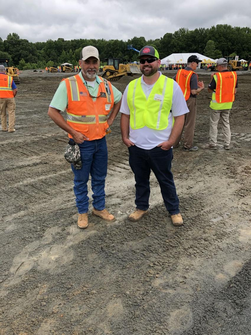 Todd Henry (L) and Keith Taylor of D.H. Griffin Infrastructure in Greensboro, N.C.