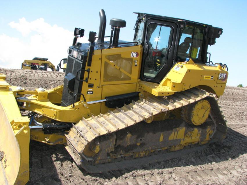 The new Caterpillar D6 dozers were among the many Cat machines on display.