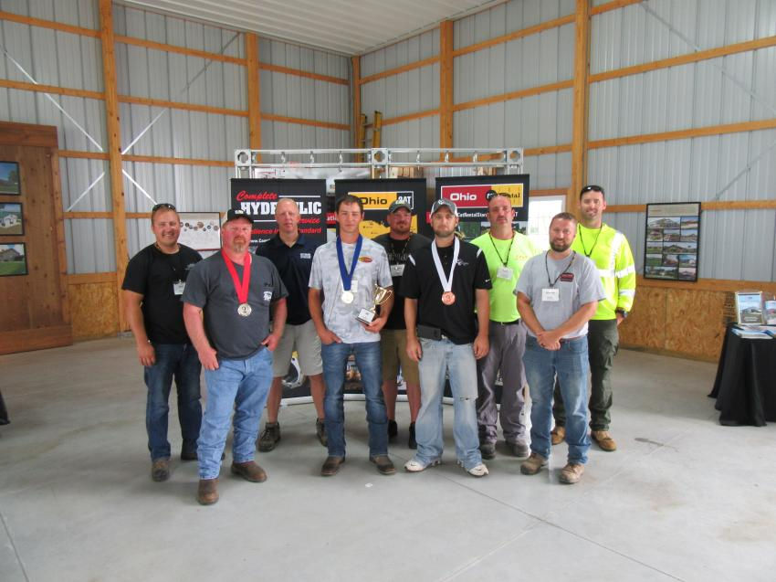 Contestants in Ohio CAT's Global Operator Challenge pose for a group photo.