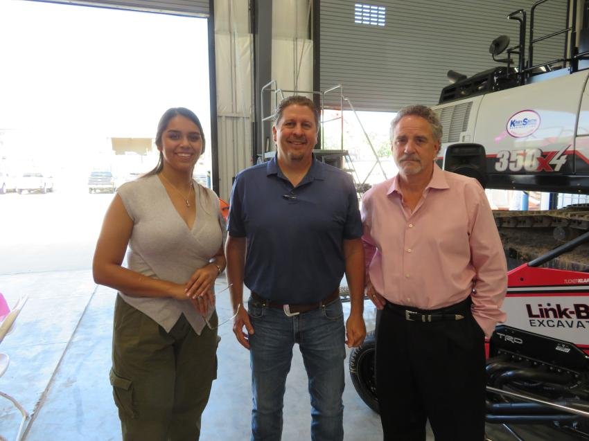 Jeff Weller (far R), executive vice president/COO of Kirby-Smith, welcomes Yomara Rios-Laurenzana and Bob Snyder, both of Emery Sapp & Sons Inc.