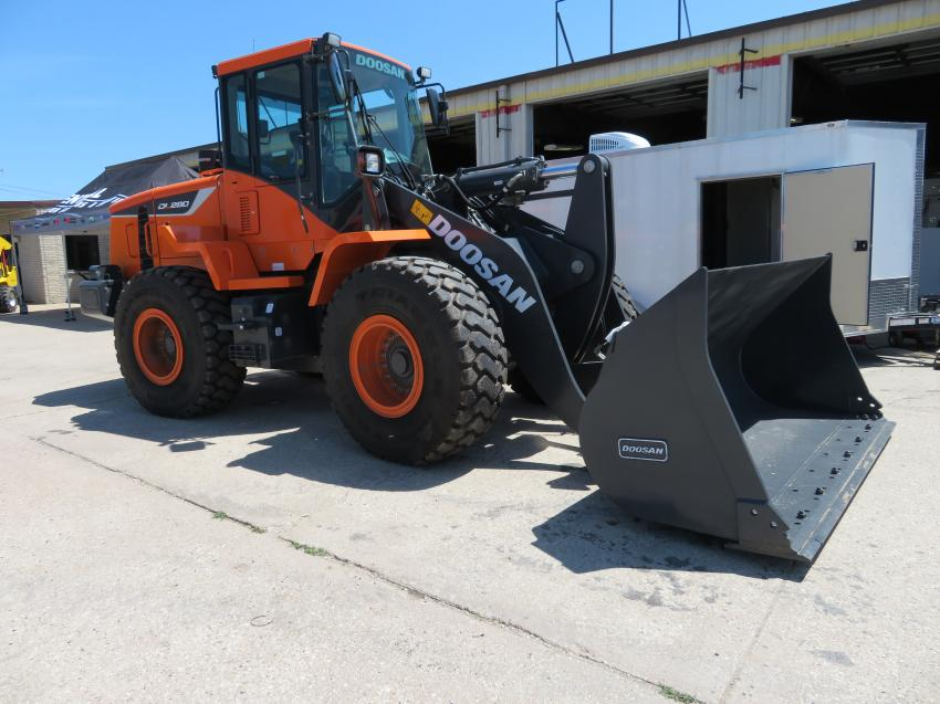 Customers had a chance to look over and operate this Doosan DL280 wheel loader.