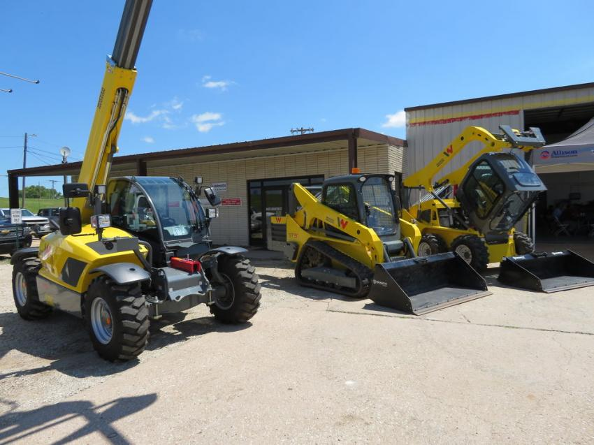 Central Power displayed Wacker Neuson skid steers and telehandlers at its Salina, Kan., open house.