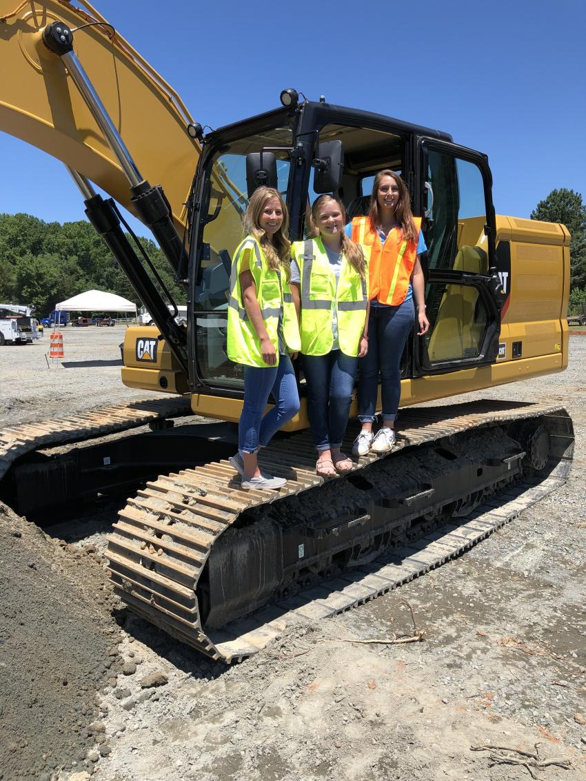 (L-R) are Kaylee and Jayden Smith of S.M. Smith & Sons in Midland, N.C., and Paige Kostrab of CTE.