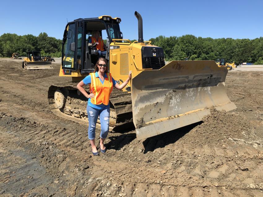 Lauren Lomascolo of Granite Contracting in Cornelius, N.C., operated the Cat D6K LGP with Grade Control.