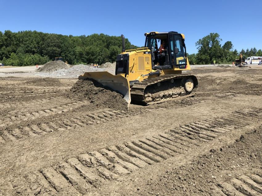 The Cat D6K LGP being operated.