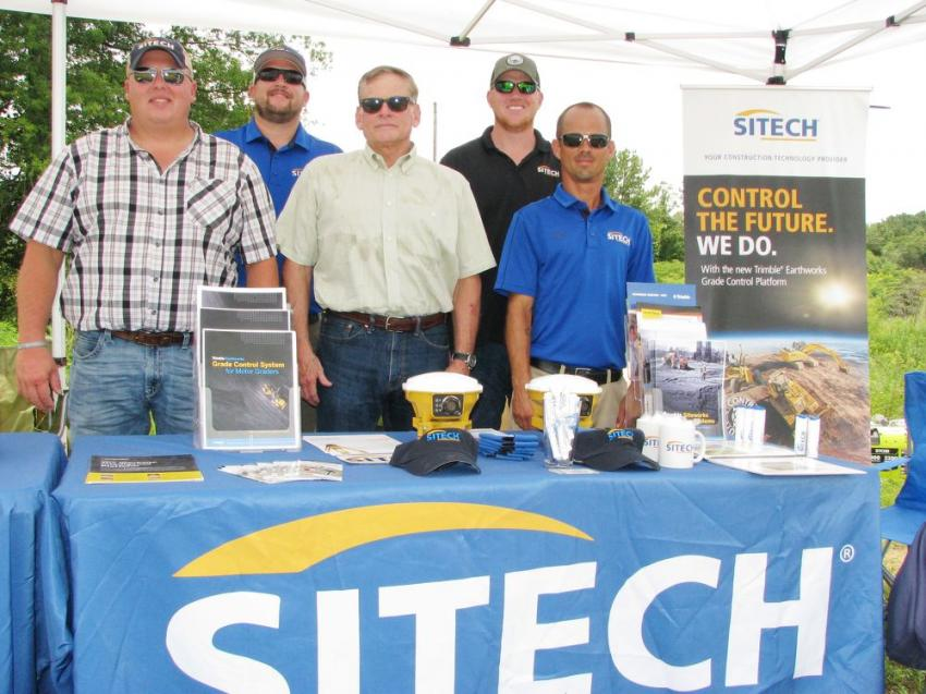 SITECH South always comes out to these events with their best Trimble technology displays and lots of support from their staff (L-R) including Greg Gay, Randy White, Ed Upchurch, Stephen Miraglia and Chris Sanders.