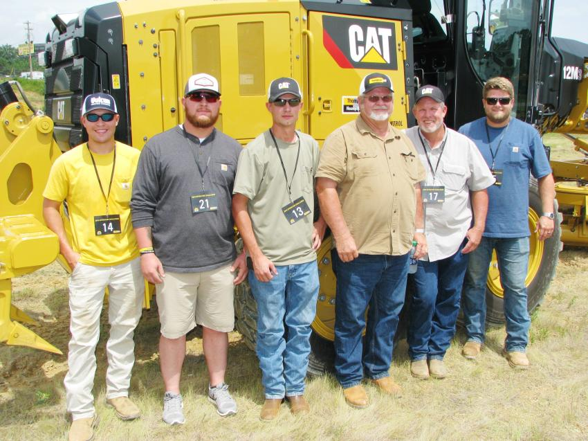 Woodard Brothers Grading based in Anniston, Ala., brought a huge team of operators to the event (L-R) including Jonathan Poole, Preston Woodard, Caleb Woodard, Phillip Woodard, Jeff Woodard and Bryan Woodard.