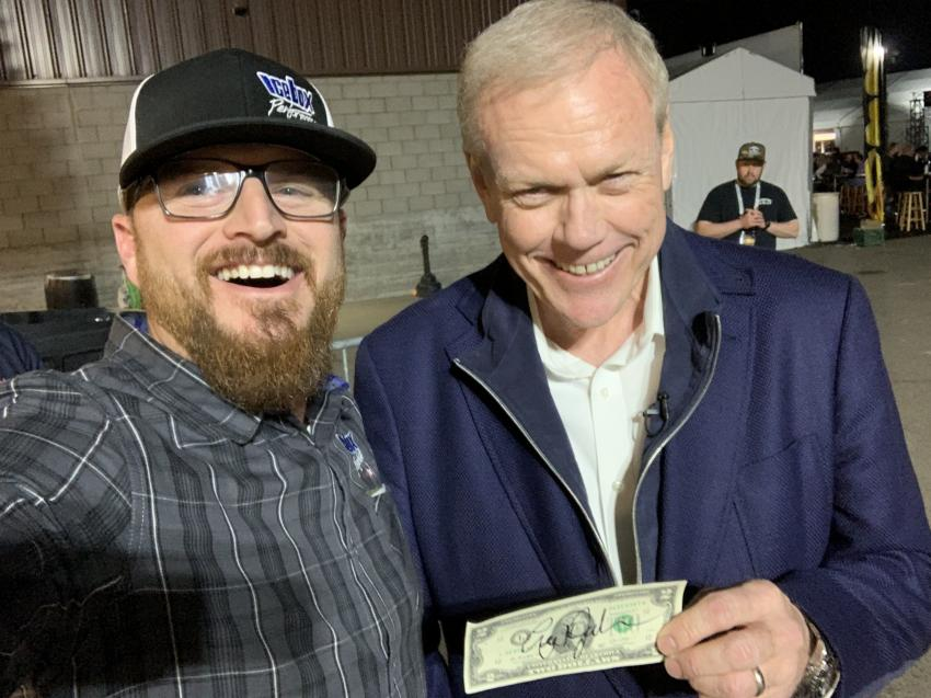 Craig Jackson of Barrett-Jackson Auction loved the $2 bill story.