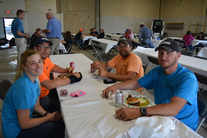 The team from Barnes Construction Solutions of Tulsa was on hand for Whitestar's open house. (L-R) are Rosie Barnes, Drake Barnes, Drew Barnes and Dan Bless. Barnes specializes in commercial construction in Oklahoma and surrounding states.