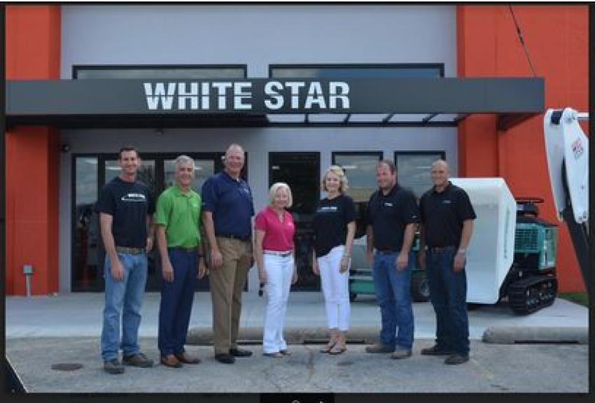 (L-R) are: Mike Cologgi, Whitestar Machinery; Walter Berry, Berry Companies; Steve Meadows, Berry Companies; Judy Worrell, Berry Companies; Lisa Peterson, Whitestar Machinery; Tyler Brake, Whitestar Machinery; and Matt Dressman, Whitestar Machinery.