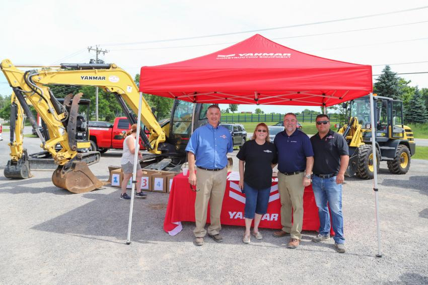 George & Swede's commitment to Yanmar has brought one of the finest lineups of compact construction equipment available to western New York. (L-R) are Greg Newell, George & Swede president; Wendy Focht, George & Swede accountant; Rick Emery, Yanmar Northeast sales representative; and Frank Baumgardner, George & Swede sales representative.